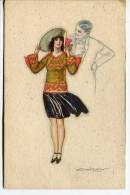 ARTESANAL HANDCRAFT LADY WOMAN ARTISTIQUE BY MAUZAN EDIT.DELL´ANNA & GASPARINI-MILANO VOYAGÉE INDET.DATE  GECKO. - Stripverhalen