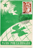 HONGRIE THEME ESPERANTO CARTE ESPERANTO OBLITERATION ILLUSTREE 1957 JUNIUS 30 - Esperanto