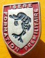Formation Prémilitaire, ISERE, Aluminium Peint, Dos Grenu , FABRICANT AUGIS LYON , ST BATHELEMY , HOMOLOGATION SANS - Army