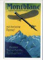 """PUBLICITE - Reproduction Affiche Ancienne  - Stylo Plume """" Montblanc """" Mit Ihm Keine Panne ! (carte Double ) - Publicité"""