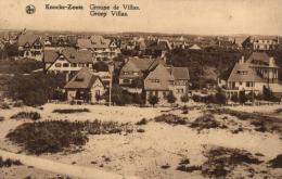 BELGIQUE - FLANDRE OCCIDENTALE - KNOCKE-LE-ZOUTE (KNOKKE) - Groupe De Villas - Groep Villas. - Knokke