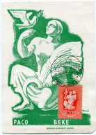 HONGRIE THEME ESPERANTO CARTE ESPERANTO  AVEC OBLITERATION ILLUSTREE  I-A DANUBVALA ESPERANTO KONFERENCO BUDAPEST 1948 - Esperanto