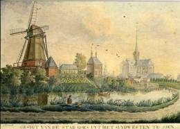 GOES (Zeeland) - Molen/moulin - Gezicht Op Goes Vanuit Het Zuidwesten Met Molen De Grenadier Ca. 1800 - Goes