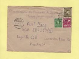 Treuen - 1947 - Destination Depot De Prisonniers De Guerre Allemands A Lens - Allemagne