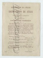 Tart-le-Haut (21) : Chromo Offrande Pour La Consttruction De L'église + école Libre Congréganiste En 1910 DOC RARE. - Images Religieuses