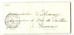 Paris  Pour Le Duc De Crillon à Beauvais (Oise). POSTES CHBRE DES DEPUTES. Cote 30e - 1801-1848: Precursors XIX
