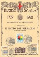 BICENTENARIO TEATRO ALLA SCALA MILANO 1778 / 1978 - 5 FEBBRAIO 1978 - IL RATTO DAL SERRAGLIO DI WOLFGANG A. MOZART - Teatro