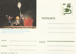 1975 GERMANY Postal STATIONERY CARD Illus SCHWABISCH HALL THEATRE PERFORMANCE Mentions SHAKESPEARE Cover Stamps - Teatro