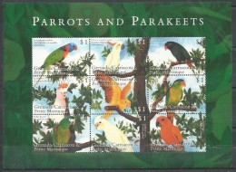 Grenadined (G): Red-collared Lorikeet (Trichoglossus Rubritorquis)......... Sun Parakeet (Aratinga Solstitialis) - Papegaaien, Parkieten