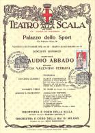BICENTENARIO TEATRO ALLA SCALA MILANO 1778 / 1978 - 22/23 SETTEMBRE 1978 - CONCERTO SINFONICO DIRETTORE CLAUDIO ABBADO - Teatro