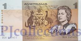 AUSTRALIA 1 DOLLAR 1983 PICK 42d UNC - Emisiones Gubernamentales Decimales 1966-...