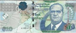 BAHAMAS 10 DOLLARS 2009 PICK 73A UNC - Bahamas