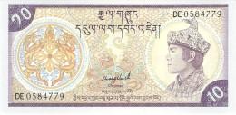 BHUTAN 10 NGULTRUM 1986 PICK 15b UNC - Bhutan