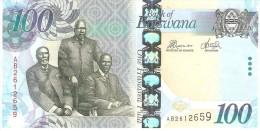 BOTSWANA 100 PULA 2010 PICK 33 UNC - Botswana