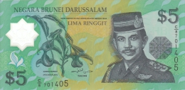 BRUNEI 5 RINGGIT 2002 PICK 23 POLYMER UNC - Brunei