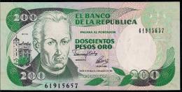 COLOMBIA 200 PESOS ORO 1992 PICK 429A UNC - Colombia