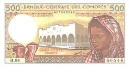 COMORES 500 FRANCS 1994 PICK 10b UNC - Comores