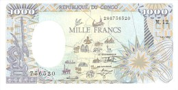 CONGO REPUBLIC 1000 FRANCS 1992 PICK 11 UNC - Congo