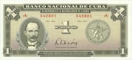 KUBA 1 PESO 1975 PICK 106 UNC