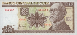 KUBA 10 PESOS 2002 PICK 117e UNC