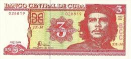 KUBA 3 PESOS 2004 PICK 127 UNC