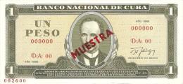 KUBA 1 PESO 1986 PICK CS20 SPECIMEN UNC