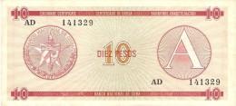 KUBA 10 PESOS 1984 PICK FX4 XF