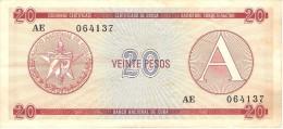 KUBA 20 PESOS 1985 PICK FX5 XF