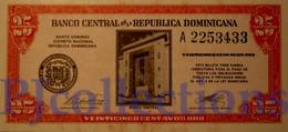 DOMINICAN REPUBLIC 25 CENTAVOS ORO 1961 PICK 87a UNC - Dominicana