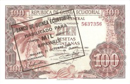 EQUATORIAL GUINEA 1000 BIPKWELE 1980 PICK 18 UNC - Equatoriaal-Guinea