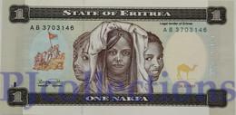 ERITREA 1 NAKFA 1997 PICK 1 UNC - Eritrea