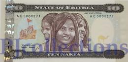 ERITREA 10 NAKFA 1997 PICK 3 UNC - Erythrée