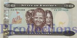ERITREA 20 NAKFA 1997 PICK 4 UNC - Erythrée