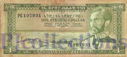 ETHIOPIA 1 DOLLAR 1966 PICK 25a VF+ - Ethiopie