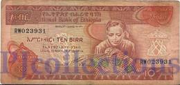 ETHIOPIA 10 BIRR 1991 PICK 43b VF - Ethiopie
