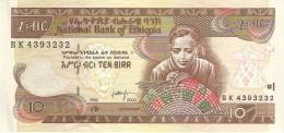 ETHIOPIA 10 BIRR 2000 PICK 48b UNC - Ethiopie