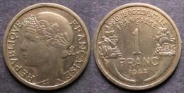 AFRIQUE OCCIDENTALE FRANCAISE   1 Franc  1944   FRENCH WESTERN AFRICA   PORT OFFERT - Niger