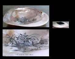 Souvenir De Hanoi - époque Coloniale - Coquillage / Old Viet Nam Hanoi Shell - Oggetti 'Ricordo Di'