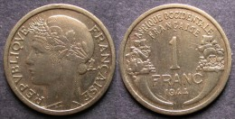 AFRIQUE OCCIDENTALE FRANCAISE   1 Franc  1944   FRENCH WESTERN AFRICA   PORT OFFERT - Guinea