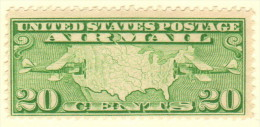 USA SC #C9 MNH  1927 Map, Mail Planes, CV $12.50 - 1b. 1918-1940 Unused