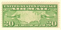 USA SC #C9 MNH  1927 Map, Mail Planes, CV $12.50 - Air Mail