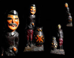 Ancienne Et Rare Marionnette De Théâtre Magyar Hongrie: Le Paysan  / Old Magyar Theatre Puppet From Hungary - Marionnettes