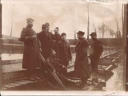 Photo Guerre 1914-18 - Soldats Du Génie Sur Un Ponton - War, Military