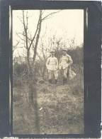 Photo Guerre 1914-18 - Deux Soldats Français Au Repos - War, Military