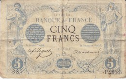 Billet 5 F Noir Du 5 Juin 1873 Alph. P.2658 - 5 F 1871-1874 ''Noir''