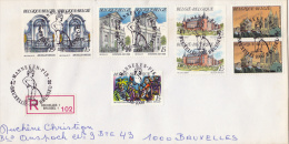 1992    BELLE ENVELOPPE RECOMMANDEE AVEC BEL AFFRANCHISSEMENT 4/7/92 - Belgique
