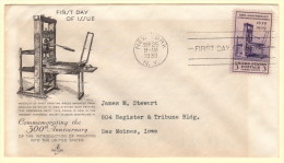 USA SC #857 FDC  1939 Printing Tercentenary  (09-25-1939) W/fading From Enclosure - First Day Covers (FDCs)