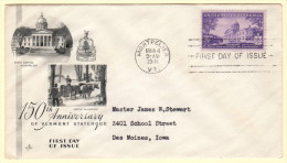 USA SC #903 FDC  1941 Vermont Statehood (03-04-1941), CV $10.00 - First Day Covers (FDCs)