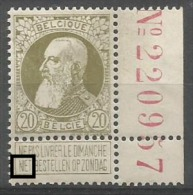 75  **  Bdf  Bien Centré N° 220957  + N Déformé Et Lié à I - 1905 Breiter Bart
