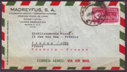 MEXIQUE  Lettre  De MEXICO   Timbre SEUL Sur LETTRE  Annee 1956   PUBLICITE De COLORANTES Par Avion - Mexico